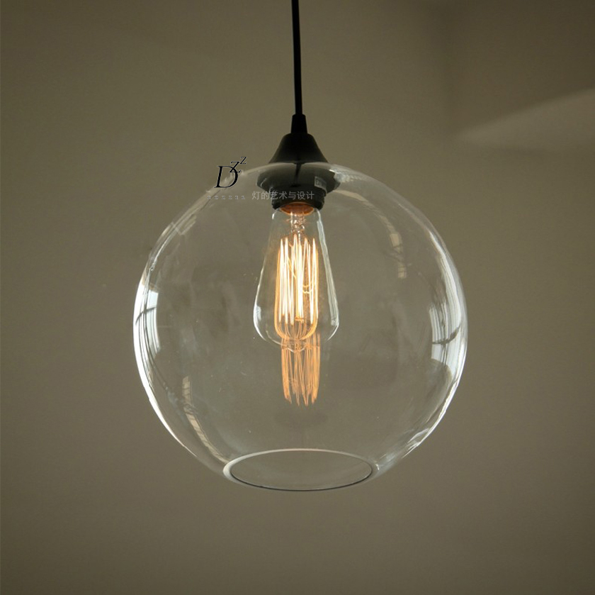 Vintage Nordic Edison Clear Glass Single LED Bulb Pendant Filament Ceiling Lamp Cafe Bar Coffeeshop  Restaurant Droplight<br><br>Aliexpress