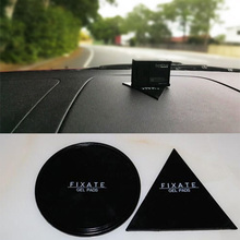 Magical Super Powerful Fixate Gel Pad Strong Stick Glue Anywhere Wall 2 Pieces Can be Used as Car Mobile Phone Bracket