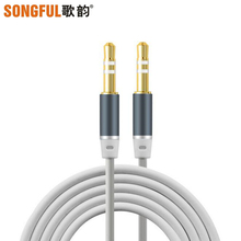 A4 Male to Male Earphone Extension Cable Cord Audio Aux Cable Headphone Acoustics Speaker Adapter Line for PC Mobile Tablet MP4(China)