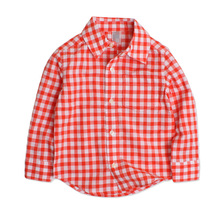 2017 Children's clothing boys shirts spring Autumn red plaid shirts for 2-5 years boys clothes cotton long sleeve kids shirts