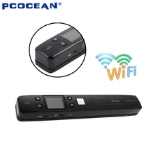 iScan High Speed Wireless Wifi Portable Scanner A4 Size JGP/PDF 1050DPI Document Handheld Scanner Support TF Card to 32GB