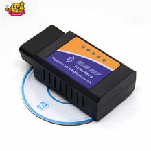 ELM327 bluetooth ELM 327 OBDII Diagnostic Interface OBD2 Auto Car Diagnostic Scanner for android torque software free shipping(China)