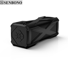 SENBONO A6 wireless outdoor Waterproof Sport bluetooth Stereo speaker with Super Bass support MIC DC out 4000mah power bank T30