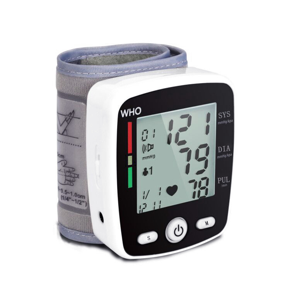 Portable Intelligent Digital Automatic Wrist Blood Pressure Monitor LCD Display Household Health Care Blood Monitors 18