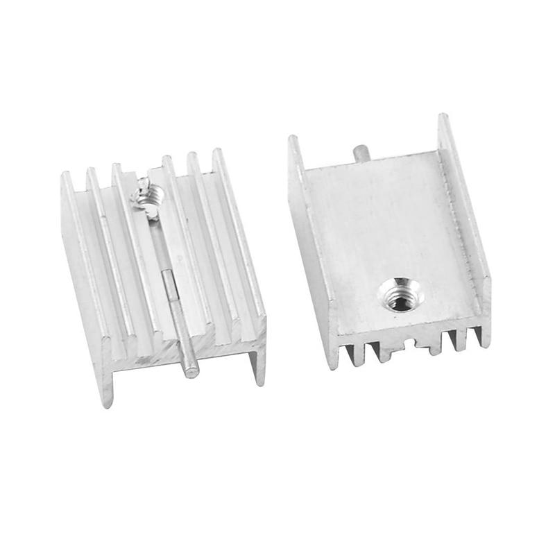 20pcs Transistors TO-220 Aluminum Heat Sink 20X15X10mm Provide Tracking Number