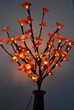 "3V Adaptor Type Blossom Branch Light 20"" 60LED Warm White with Various Color Blossom Plum Flolwer Deocation(China)"