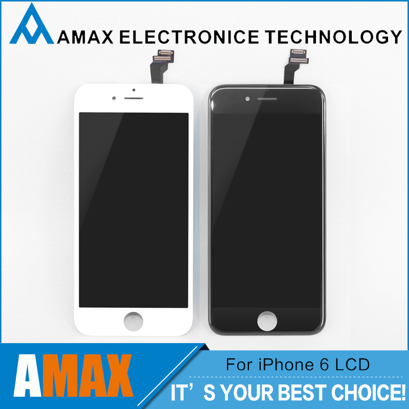20 PCS/LOT None Spot AAA+ for iPhone 6 LCD Full Assembly with Screen Replacement Lens Pantalla Black White Free DHL Shipping<br><br>Aliexpress