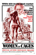 WOMEN IN CAGES Exploitation XXX Sex Movie Art Wall Decor Fabric Poster P2147