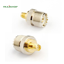 ALLiSHOP Electronics 1pcs RF coaxial coax adapter SMA female to UHF female SO-239 SO239 connector convertor