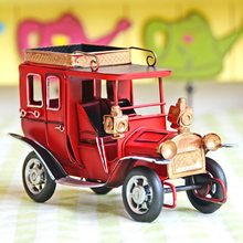 Vintage Metal Craft Retro Car Furniture Home Table Decoration MiniatureS Kids Toy Birthdays Gifts Vintage Car  Figurine Present