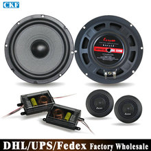 Free DHL Fedex 6Sets 6.5 Inch Car Speaker Package Car Speaker Car Audio Systems LB-TC166B(China)