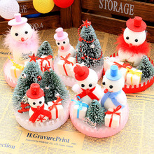 Foam Made Christmas Doll Snowman Doll Mini Christmas Tree Xmas Child Gift Ornaments Cute Christmas Ornaments Home Decoration