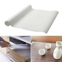 1 pc Transparent Cupboard Kitchen Shoebox Drawer Dining Table Skid Moistureproof Dust Pad Skid mat A3