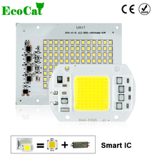 ECO CAT LED COB Bulb Lamp 5W 10W 20W 30W 50W LED Chip 220V Input IP65 Smart IC Fit For DIY LED Flood Light Cold White Warm White