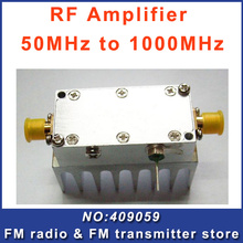 Fmuser F01 RF Signal Amplifier 50MHz to 1000MHz Remote Control High Gain Free Shipping