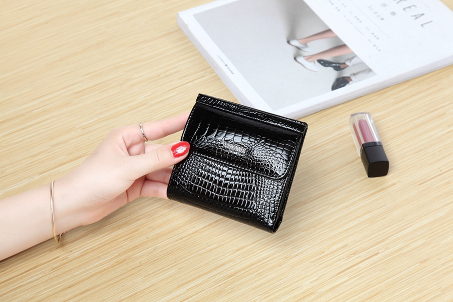 VICKAWEB Mini Wallet Women Genuine Leather Wallets Fashion Alligator Hasp Short Wallet Female Small Woman Wallets And Purses-IMG_6447