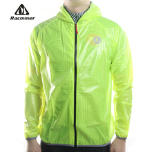 Racmmer MTB Long Cycling Jersey Flashlight Waterproof Jacket Windproof Raincoat Bike Bicycle Compressed Clothes 4 Colors #DG-02 - Official Store store