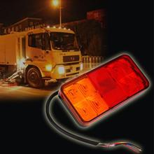 8-LED Truck Trailer Boat Caravan Rear Tail Light Lamp Taillight Waterproof Truck Car Van Lamp Tail Trailer Light E-Marked