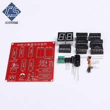 DIY Kit Electronic Skills Training Kit 60S Timers 2Bit LED Digital Tube Display Counter Second Circuit Module DIY Kit