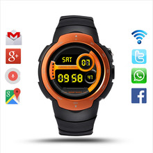 Android 5.1 OS Smart Watch Support 3G wifi Nano SIM Card Google Voice GPS Map Weather Search Bluetooth Smartwatch for IOS androi