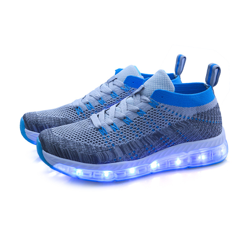 2017 Popular Fashion Rechargeable USB Led Children Sport Sneakers Boys And Girs Luminous Flash Kid Light Up Shoes Men And Women<br>