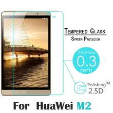 2Pcs 9H Tempered Glass Screen Protector Film For HuaWei Honor Mediapad M2 8.0 + Alcohol Cloth + Dust Absorber(China)