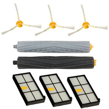 New 8Pcs Sweeper Robot Accessories Tangle-free Side Brush Filter Debris Extractor Set For Series 800 870 880 980(China)