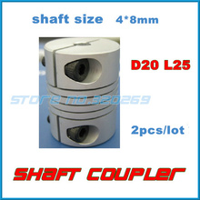 2pcs/lot  Jaw Shaft Coupling Spider Flexible Coupler 4mm x 8mm 4 x 8