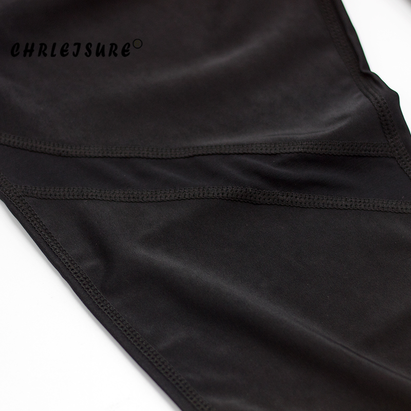 CHRLEISURE Sexy Women Leggings Gothic Insert Mesh Design Trousers Pants Big Size Black Capris Sportswear New Fitness Leggings 22