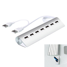 High Speed USB2.0 Hub 7-Port Portable Aluminum Hub with 60cm USB Cable for Vista / Mac OS 10.1 / Windows 98 QJY99