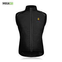 WOSAWE Sleeveless Windproof Cycling Vest Lightweight Cycling Reflective Jerseys Breathable Bike Bicycle Cycling Gilet