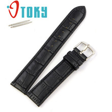 Dressflow 1pc High Quality Soft Brown Black Sweatband Faux Leather Strap Steel Buckle Wrist Watch Band 161221 Drop Shipping