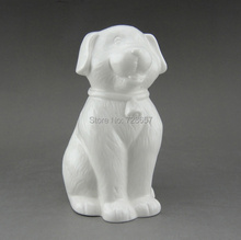 Cute Porcelain Pet Dog Figurine Ceramic Animal Statue Craft Embellishment Accessories for Birthday Gift, Souvenir and Home Decor