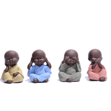 F Yixing Ceramic Home Furnishing Gardening Decoration Handcrafts Creative Little Monk Mini Cute Ornaments Tea Pet Gift(China)