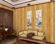 beibehang Simple classic Chinese retro imitation wood grain pvc senior 3d wallpaper living room TV background papel de parede(China)