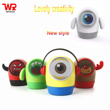 WPAIER JY-WT Cute cartoon wireless bluetooth speaker portable outdoors bluetooth mini speaker Lovely support TF card(China)