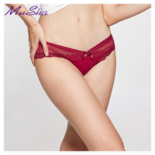 Buy Hot sale! women's sexy lace panties seamless cotton breathable Hollow briefs Plus Size girl patchwork underwear