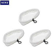 NTNT 3 QTY Washable Microfibre Cloth Replacement Pads For H2O Steam Mop Cleaner