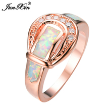 JunXin Belt New Fashion Women Geometric Opal Rings 10KT Yellow Gold Filled Ring Jewelry Anelli Donna RP0019