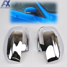 AX Chrome Door Side Rear View Mirror Cover For Ford Focus Mk3 Trim Cap Overlay Garnish Molding 2012 2013 2014 2015 2016 2017(China)