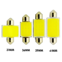 1Pcs High Quality 31mm 36mm 39mm 41mm C5W 12 Chips COB LED Festoon Lamp Dome Interior Lights Map Roof Reading Bulb White DC 12V