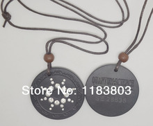 5pcs/lot Free shipping White CZ stone Quantum Pendant Necklace with energy card and box scalar pendant energy pendant