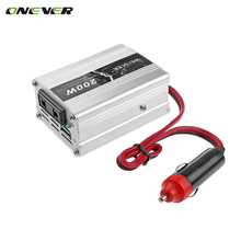 2017 Universal 12V DC to AC 220V Car Auto Power Inverter Converter Adapter Adaptor 200W USB Car styling car charger