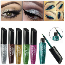 Professional Makeup 10 Colors Glitter Eyeliner Waterproof Liquid Eyeliner Beauty White Gold Eye Liner Korea Cosmetics(China)