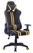 High Back PC Gaming Office All Steel Computer Chair Ergonomic Design Racing Style Premium Leather Lumbar Support Swivel Chair