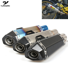 Motorcycle Scooter Exhaust Pipe Modified Exhaust Muffler Pipe For Yamaha XMAX 125 250 300 400 XV400 Fazer 600 fz6s fz6n XT660 R6