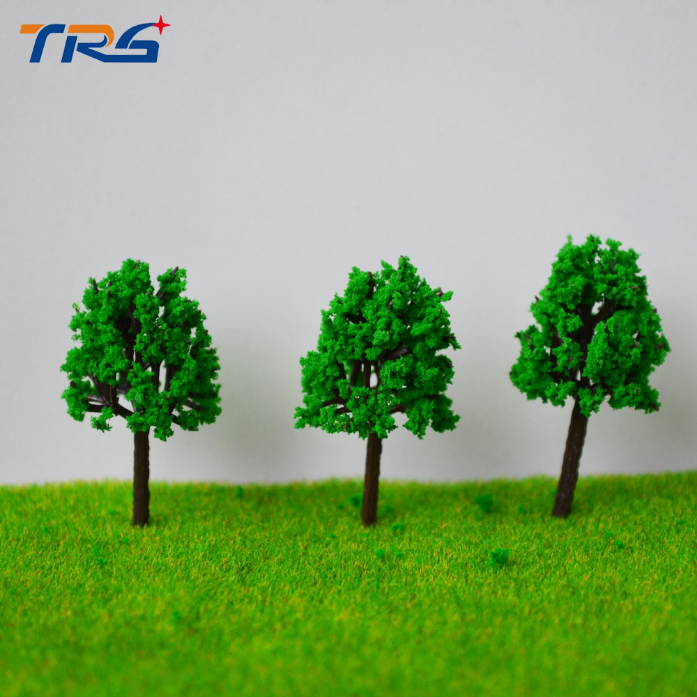 4cm Green Color Railroad Layout Architectural Model Making Materials Scale Plastic Model Tree(China)