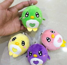 1X Cute Random Color Chicken 10CM Plush Keychain DOLL TOY Plush Stuffed TOY DOLL ; BAG Pendant TOY Gift DOLL(China)