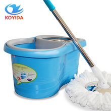 KOYIDA Magic Spin Mop Bucket Double Drive Hand Pressure Spin Mop With 1 Microfiber Mop Head Household Floor Cleaning 360 broom