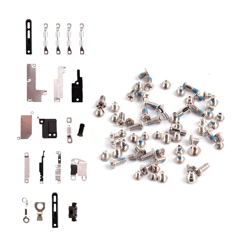 Bracket-Holder Shield-Plate-Set-Kits-Parts Small-Parts Full-Screw iPhone 7 8-Plus 1set title=